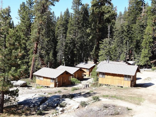 Montecito Sequoia Lodge: View of single cabins from main lodge deck