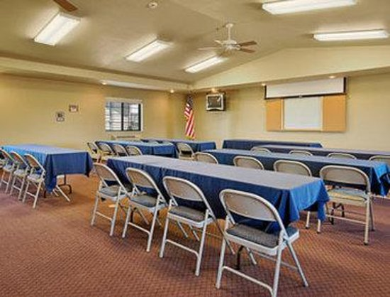 Super 8 McCall: Our meeting room seats up to 50 people. We have long tables, wipe boards, easel and VCR. Other m