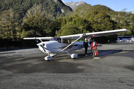 """Wakatipu Aero Club: At Milford Sound """"airport"""""""