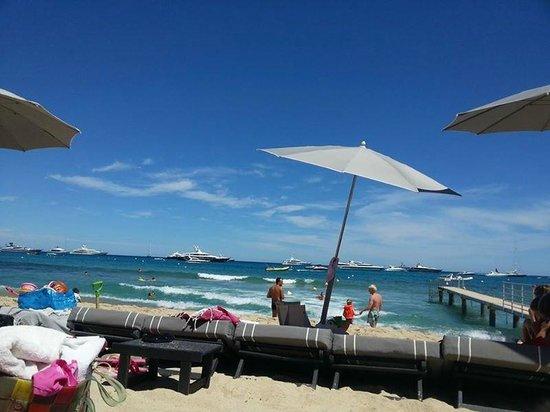 Key West Beach : Vue des transats