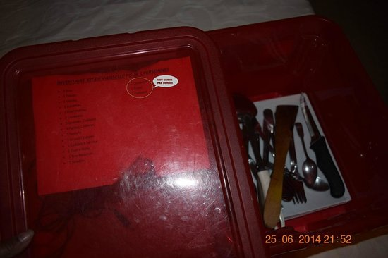 Hotel-Residence Saint Jean : Missing items in the Utensils Kit
