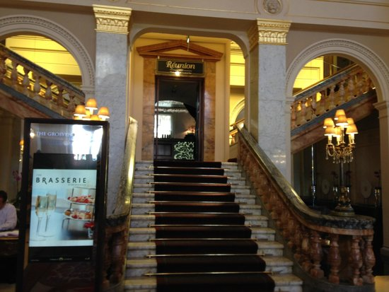 The Grosvenor Hotel: staircase in the reception area