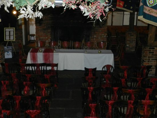 The wedding lay out set up the night before picture of crown and