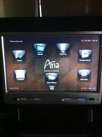 ARIA Resort & Casino: Monitor de comando personalizado