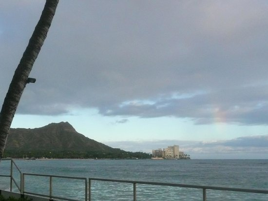 House Without a Key: Diamond Head view with little bit of rainbow.