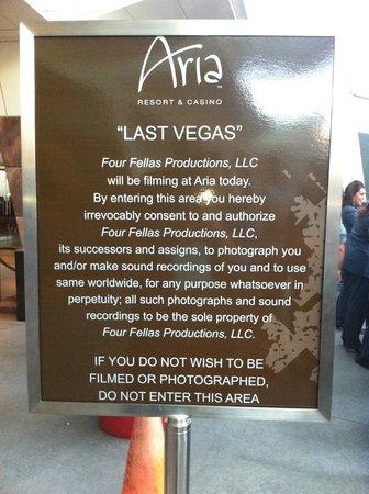 ARIA Resort & Casino: Parte externa, gravação de Last Vegas