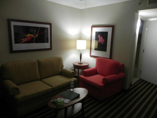 Hilton Garden Inn Ft. Lauderdale Airport-Cruise Port: Room 506 - living room