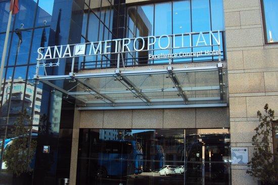 SANA Metropolitan Hotel: Entrada principal do Sana Metropilitan Lisboa