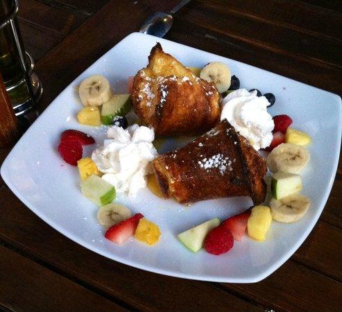Blue Plate: Popover Dessert