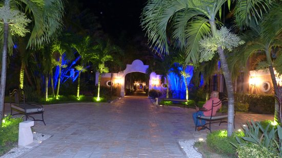 Dreams Tulum Resort & Spa: Night view of hotel grounds