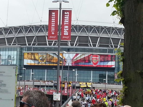 Wembley Stadium : Hull City v Arsenal FA Cup Final 2014