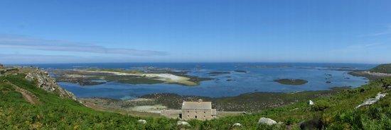 Reserve Naturelle des Sept Iles: vue panoramique prise sur l'ile aux moines