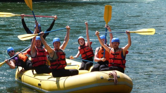 Kootenay Raft Co : David (our guide), my brothers-in-law, me, & my boys having the time of our lives.