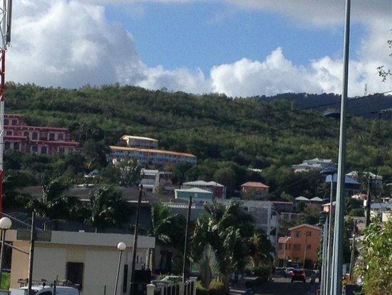 Hôtel La Pagerie : Вид в сторону центра острова