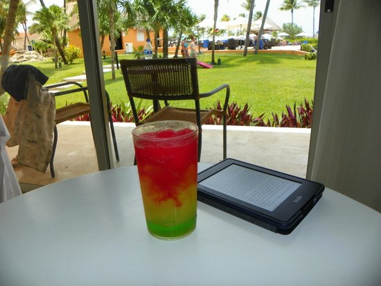 Ocean Maya Royale: A drink called 'Rivera Maya' looking out of my room.