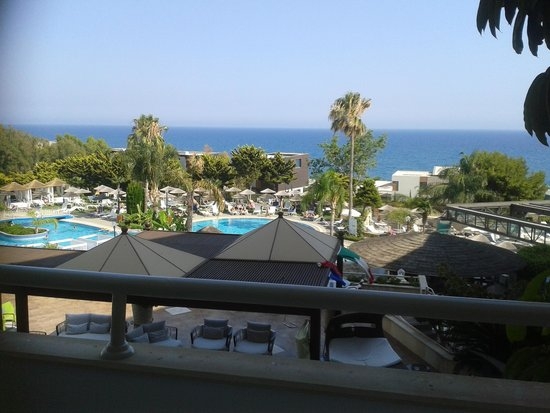 Atlantica Bay Hotel: view from the balcony - worth paying extra for the sea view