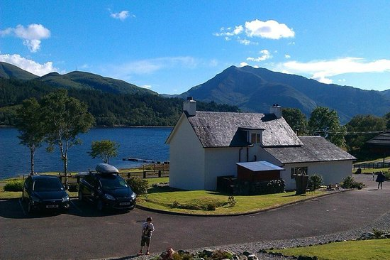 Loch Leven Chalets: The view from our Veranda in Seal Chalet
