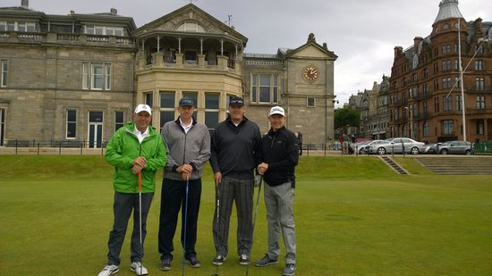 St Andrews Links: First tee on the Old Course