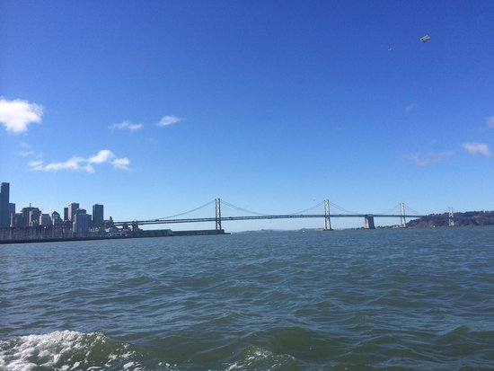 Ride The Ducks of San Francisco : Bay bridge view from duck tour