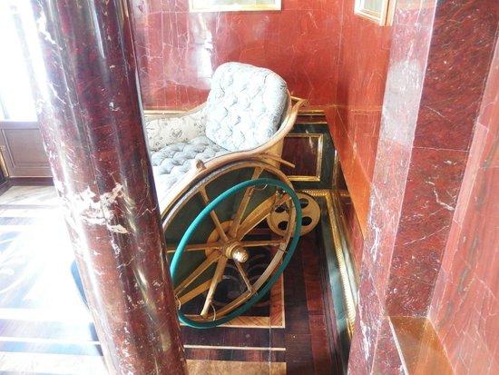 Tsarskoye Selo State Museum Preserve: Catherine's II wheelchair (Agate Rooms)