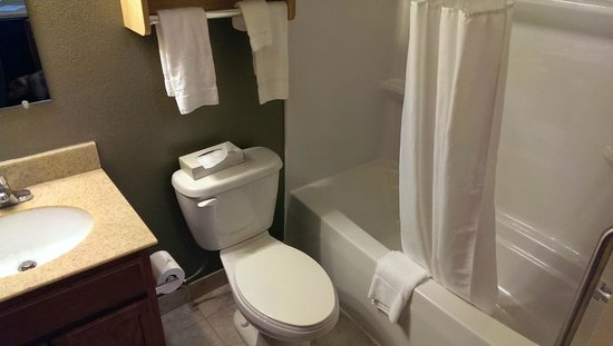 Suburban Extended Stay Hotel Triadelphia: Bathroom