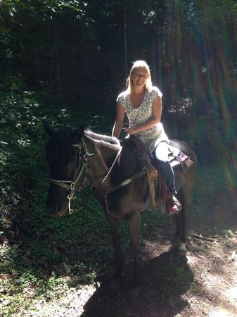 Me and the most beautiful horse at Valle Crucis!