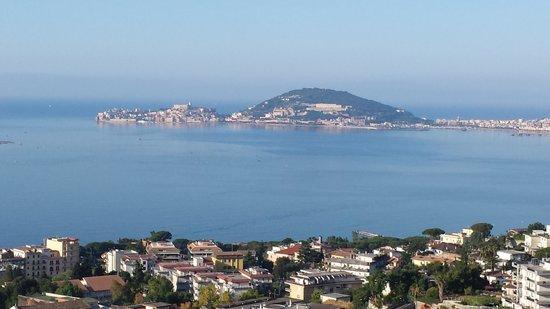 Hotel Castello Miramare: panorama golfo (finestra camera 103)
