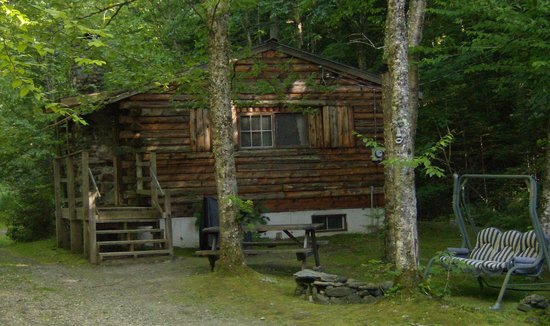 Rustic Log Cabins: Cabin 7 in summer