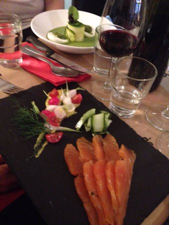L'Annexe: Mozzarella buffala & salmon