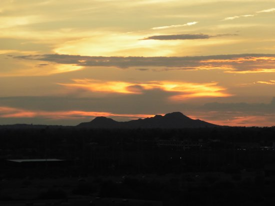 Talking Stick Resort: This was the sunset view from our room on the 9th floor
