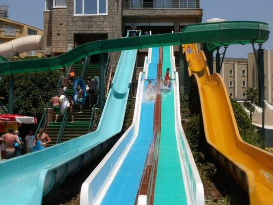 Marmaris Atlantis Waterpark : Slides with or without a mat