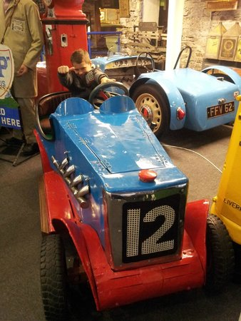 Lakeland Motor Museum: My Grandson in peddle car