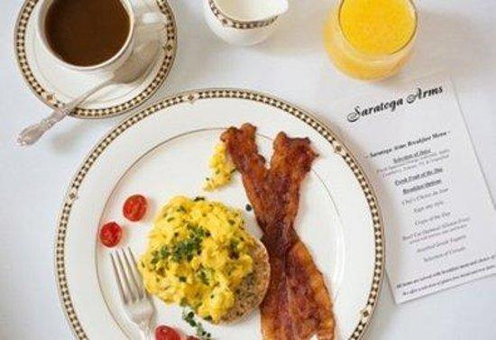 Saratoga Arms: Eggsandbaconwithmenu