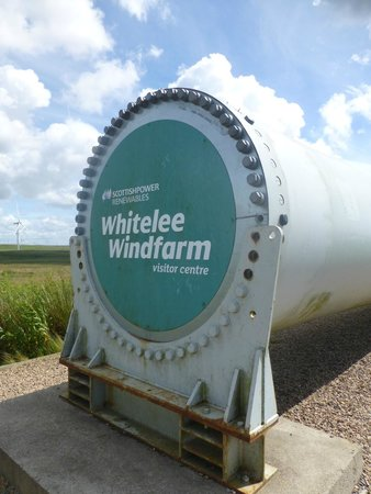 Whitelee Wind Farm Visitor Centre: blade on ground for perspective