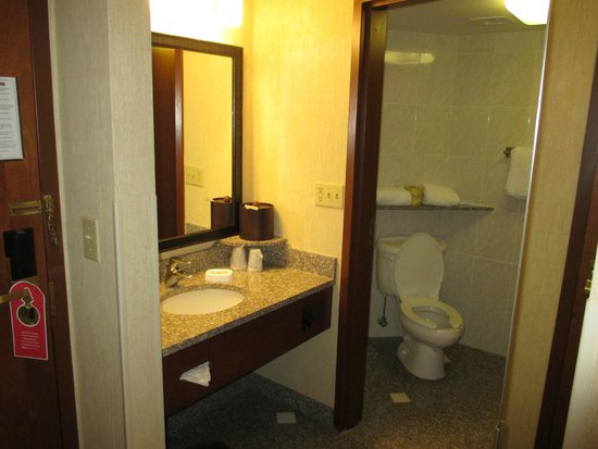 Drury Inn & Suites Birmingham Lakeshore Drive: Strange angle on toilet but everything spotless
