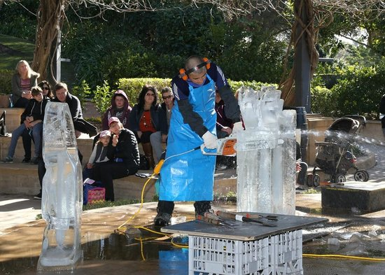 Hunter Valley Gardens: Ice carving demonstration