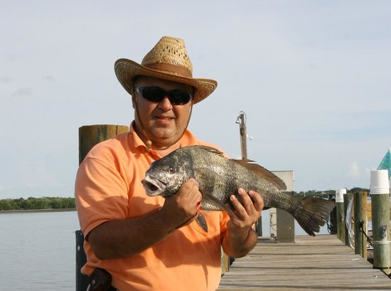 Jensen's Twin Palm Cottages and Marina: And here is the black drum!!