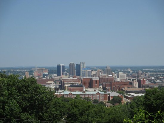 Vulcan Park and Museum: Great view of downtown
