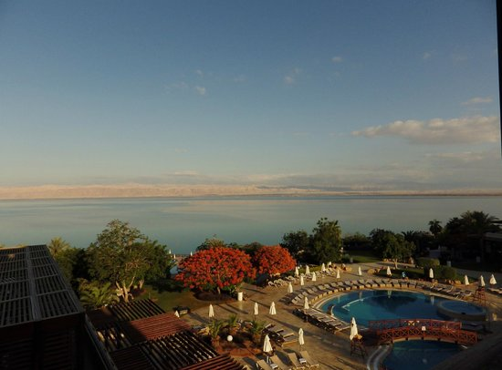 Dead Sea Marriott Resort & Spa: Dead Sea across the pool