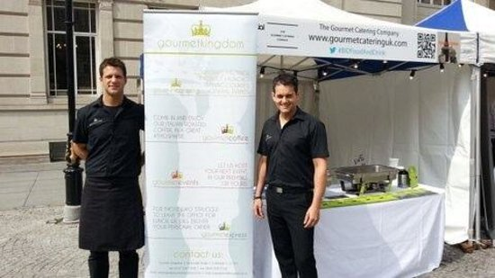 Gourmet Coffee : owners Andy & Dean hosting Food & Drinks festival outside in Exchange Flags.....great day love i