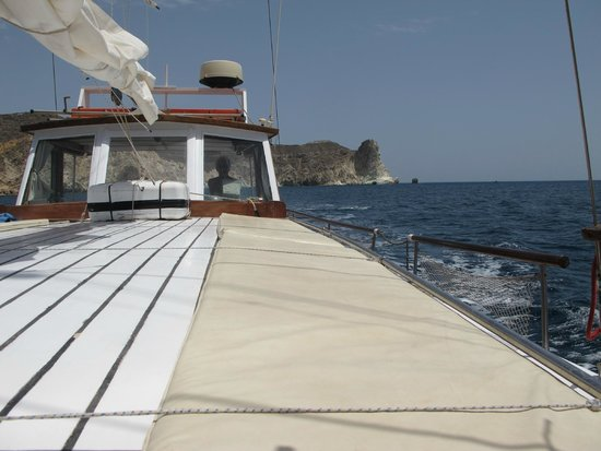 Captain George Santorini Yachting: Plenty of deck top to lay out - especially for that nap on return!