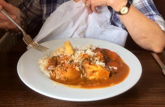 Dee Side Bistro : very tasty vegetable curry .. potato, broccoli, carrot, courgette, aubergine, cauliflower