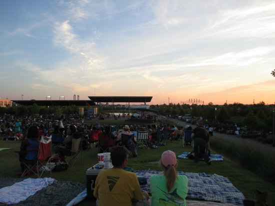 Birmingham's Railroad Park : View of stage for Jazz Fest