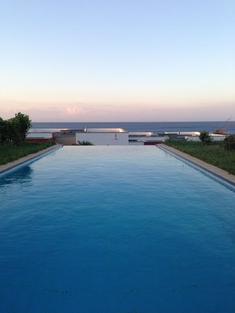 The Kresten Royal Villas & Spa: Junior suit private pool with sea view at sunset. Almost like a miniature infinity pool, very lo