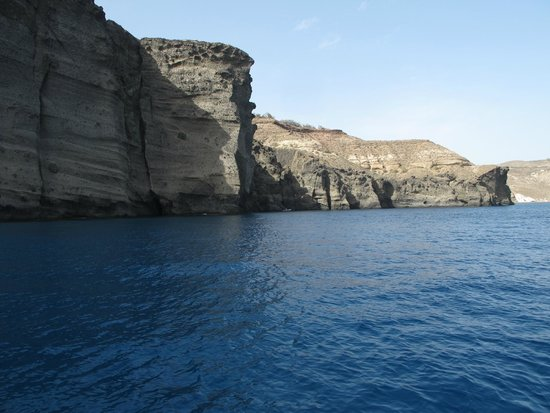 Captain George Santorini Yachting: Perfect place to stop & swim & we do!