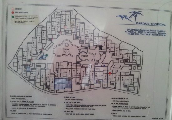 Apartments Parque Tropical: Plan of Accommodation we were in room 51A, Great Room