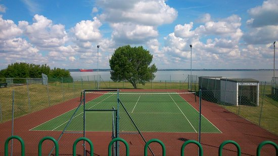 Allhallows Holiday Park - Haven: Tennis courts and view