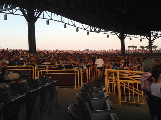 Jiffy Lube Live: View from Section 201 Row B looking back to lawn