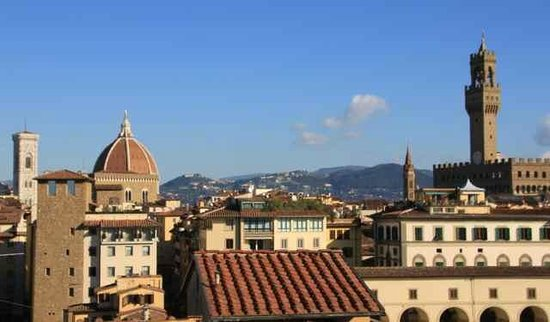 Pitti Palace al Ponte Vecchio: view from the terrace, towards Duomo and Fiesole