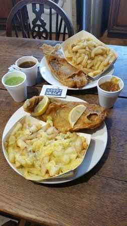 The Coddy Shack: Proper large size portions for Cornwall. Banging taste and quality!! For reference this is 2 lar